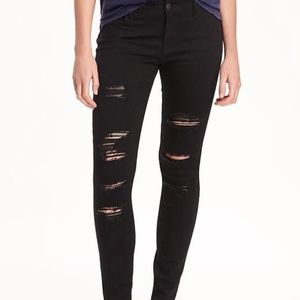 Old Navy mid-rise rockstar jeans 18 distressed